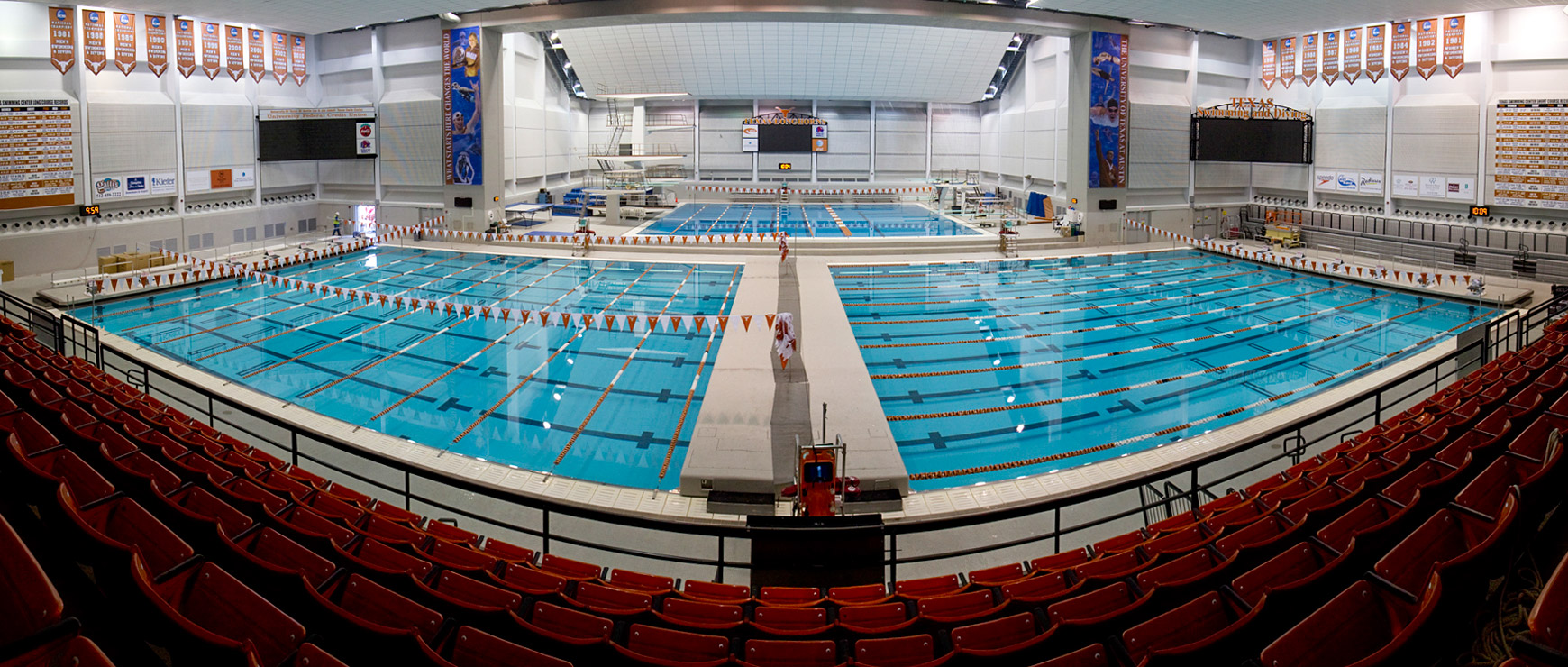 Texas Swimming Center Pano from Seats